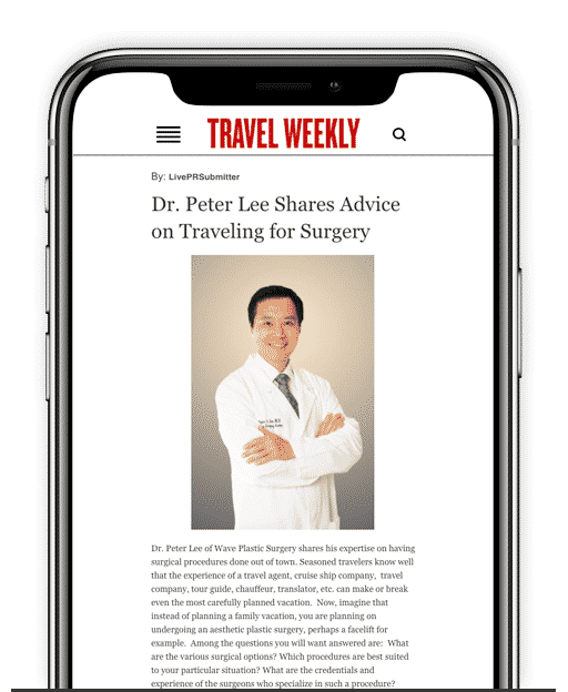 Travel Weekley with Dr Peter Lee image on an iphone